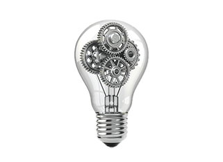 Lightbulb of ideas